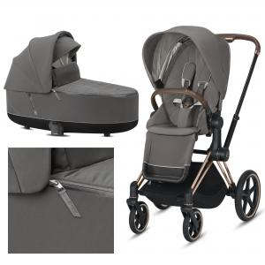 Cybex Priam 2.0 2020 Soho Grey na ramie Rose Gold - wózek 2w1