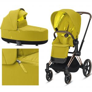 Cybex Priam 2.0 2020 Mustard Yellow na ramie Rose Gold - wózek 2w1