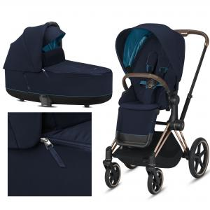Cybex Priam Nautical Blue 2.0 2020 na ramie Rose Gold - wózek 2w1