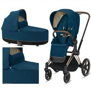 Cybex Priam 2.0 2020 Mountain Blue na ramie Rose Gold - wózek 2w1