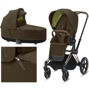 Cybex Priam 2.0 2020 Khaki Green na ramie Rose Gold - wózek 2w1