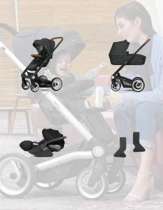Mutsy Icon 3w1 z Cybex Cloud Z i adapterami
